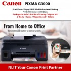 Canon Pixma G3000 Printer Print/ Scan/ Copy / Wifi