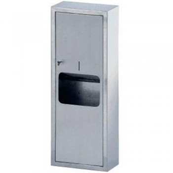 Stainless Steel 2-in-1 Paper Dispenser & Disposal PTD-191/SS (Item No:  F13-55)