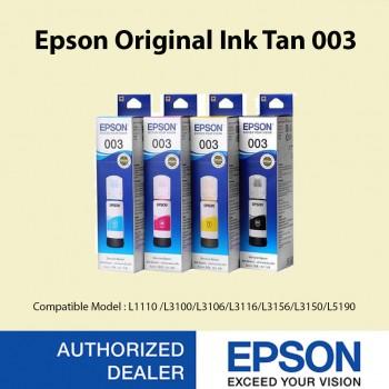 Epson 003 Ink 65ml 4 Colors for (L3100, L3101, L3110, L3150) (Set of 4)