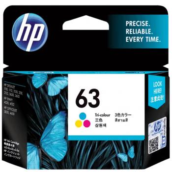 HP 63 Tri-Color Original Ink Cartridge F6U61AA