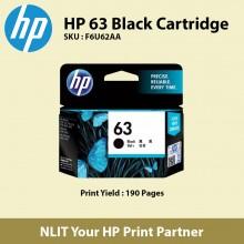HP 63 Black Original Ink Cartridge F6U62AA