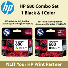 HP 680 Combo / Twin Packing Set 1 Black and 1 color ( 2 set per customer)