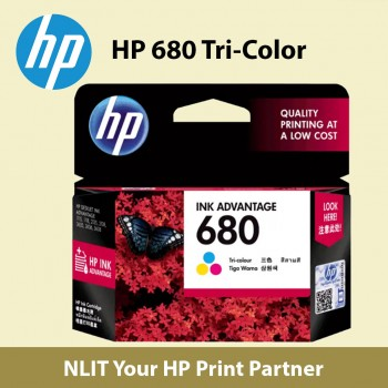 HP 680 Tri-Color Original Ink Advantage Cartridge (F6V26AAL)
