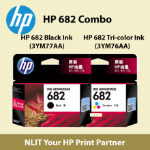 HP 682 Combo Pack  Tri-color  n Black Combo (3YM76AA+ 3YM77AA)