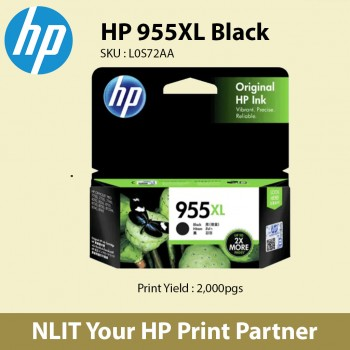 HP 955XL High Yield Black Original Ink Cartridge L0S72AA Free Delivery Charges
