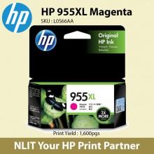 HP Original Cartridges : HP 955XL Magenta : Hight Yield : 1600pgs : L0S66AA : 6 month Direct HP Warranty