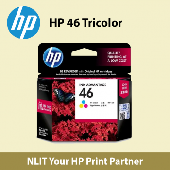 HP 46 Tri Color Ink Cartridge (CZ638AA) Max 2 Unit Per Customer - Free Delivery