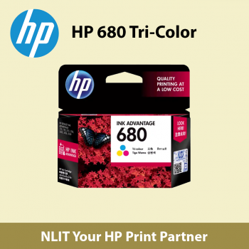 HP 680 Tri-Color Original Ink Advantage Cartridge (F6V26AAL)
