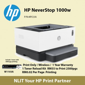 HP Neverstop Laser MFP 1000w Printer (4RY23A)