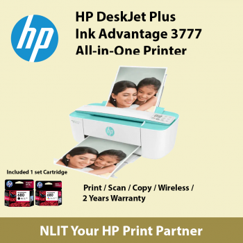 HP DeskJet Ink Advantage 3776 All-in-One Printer T8W39B Seagrass Green ( Bundled inside 2 black and 1 color cartridges ) limited 1 unit per customer