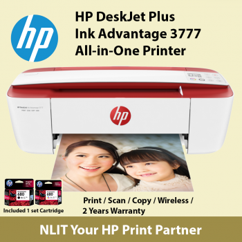 HP DeskJet Ink Advantage 3777 All-in-One Printer T8W40B Cardinal Red