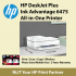 HP DeskJet Plus Ink Advantage 6475 All-in-One Printer - come with 2 unit  682 black and 2 units 682 color Cartridge