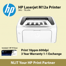HP LaserJet M12a Printer Bundled with 1 HP 79 Original Toner