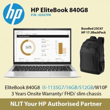 HP EliteBook 840 G8 i7-1165/16GB/512GB/W10P SKU : 3Z3Z57PA