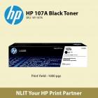 HP 107A Black Original Laser Toner Cartridge SKU W1107A