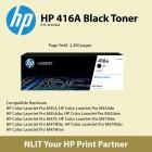 HP Original Toner : HP 416A Black : Std : 2,400pgs : W2041A :  2 Years Direct HP Warranty