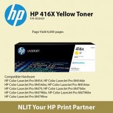 HP Original Toner : HP 416X Cyan : Large : 6,000pgs : W2041X : 2 Years Direct HP Warranty