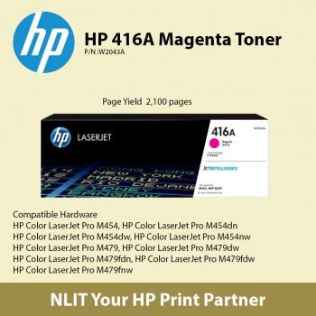 HP 416A Magenta Original LaserJet Toner Cartridge W2043A