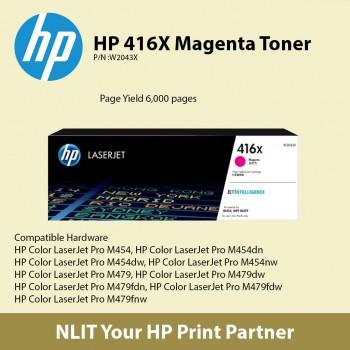HP 416X Magenta Original LaserJet Toner Cartridge W2043X