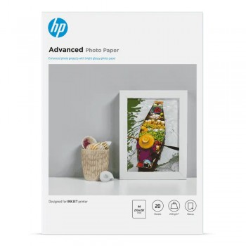 HP Advanced Glossy FCS Photo Paper-20 sht/A4/210 x 297 mm