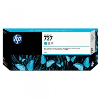 HP 727 300-ml Cyan DesignJet Ink Cartridge (F9J76A)