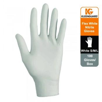 KleenGuard™ G10 Flex Nitrile Ambidextrous Gloves- white, 1x100 (100 gloves) - M size