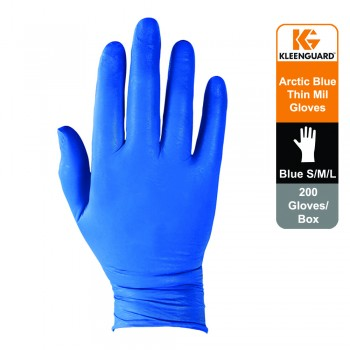 KleenGuard™ G10 Nitrile Ambidextrous Gloves - Arctic Blue,1x200 (200 gloves) - L Size