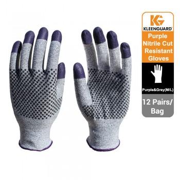 KleenGuard™ G60 Endurapro™ Dual Grip™ Purple Nitrile Gloves Grey & Purple, 1x12 (24 gloves) - 97432 (L)