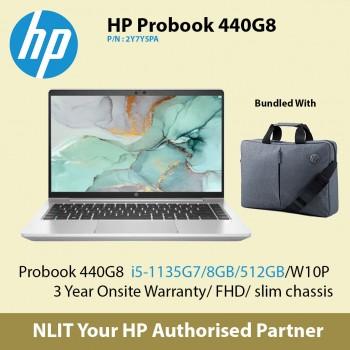 HP ProBook 440 G8 2Y7Y5PA   (i5-1135G7 / 8GB DDR4 / 512GB SSD / W10P/3YearsOnsite )