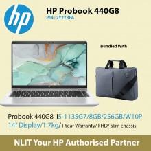 """HP ProBook 440 G8 2Y7Y3PA   (i5-1135G7 / 8GB DDR4 / 256GB SSD / 14"""" Display/ 1.38Kg/ W10P/1Yr Warranty ) Exstock"""