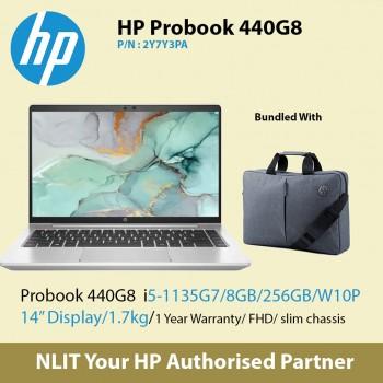 """Exstock HP ProBook 440 G8 2Y7Y3PA   (i5-1135G7 / 8GB DDR4 / 256GB SSD / 14"""" Display/ 1.38Kg/ W10P/1Yr Warranty )"""