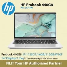 """HP ProBook 440 G8 2Y7Y7PA   (17-1165G7 / 16GB DDR4 / 512GB SSD / 14"""" Display/ 1.7Kg/ W10P/1Yr Warranty ) ETA 1/9 - 2/9"""