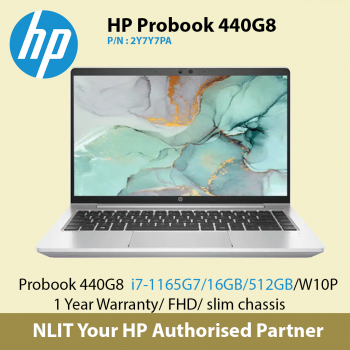 HP ProBook 440 G8 2Y7Y7PA   (i7-11650U / 16GB DDR4 /512GB SSD / W10P) Bundled with Carrying Case