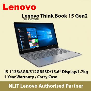 Lenovo ThinkBook 15 (i5-1135U / 8GB DDR4 / 512GB SSD M.2/ W10P/1.7Kg) - Ex-stock