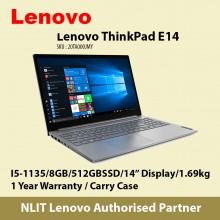 Lenovo ThinkPad E14 ( i5-1135G7 / 8GB / 512GBSSD / W10P / 1.7kg) next stock in End Oct