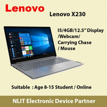 Used Lenovo X230 Notebook i5/4GB/120GBSSD/Webcam/Mouse and Carrying Case
