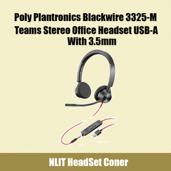 Plantronics Blackwire BW3325-M USB-A Wired Over-the-head Stereo Headset