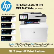 HP Color LaserJet Pro MFP M479fdw Printer (W1A80A)