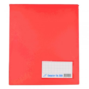 PVC COMPUTER FILE A4 - Red (Item No: C01 21 RD)