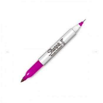 Sharpie Twin Tip Permanent Marker - Pink (Item No: A12-19 TT PK) A1R3B27