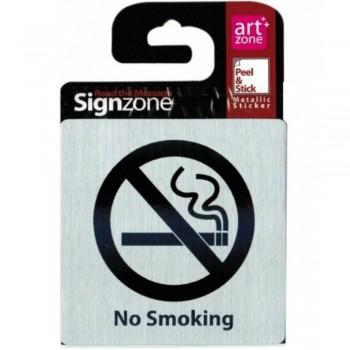 Signzone P&S Metallic-9595 No Smoking (Item No: R01-01 NOSMOKIN)