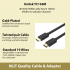 4K 60Hz HDMI Cable Ver2.0 1Meter (HDR10 & 32Audio Channel) Unitek YC136M