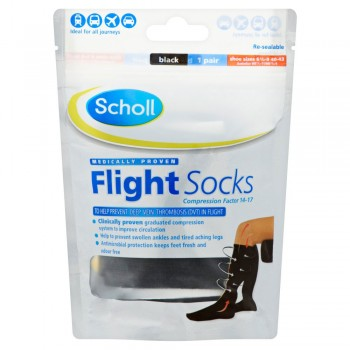 Scholl Cotton Feel Flight Socks Size 6.5-9
