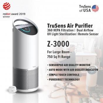 Trusens Z-3000 Air Purifier with SensorPod Air Quality Monitor, Large Room - 750 Sq Ft Range
