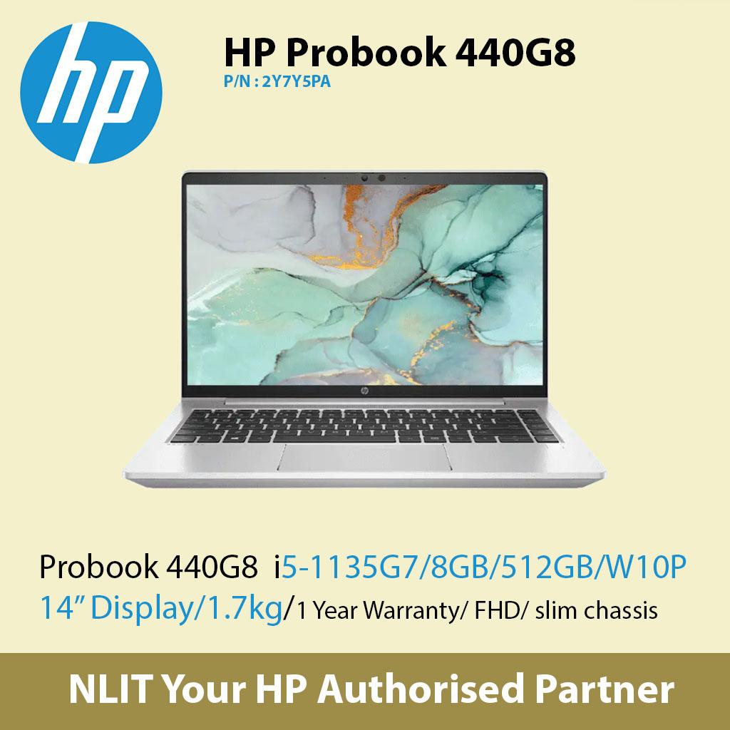 """Exstock HP ProBook 440 G8 2Y7Y5PA   (i5-1135G7 / 8GB DDR4 / 512GB SSD / 14"""" Display/ 1.38Kg/ W10P/1Yr Warranty )"""